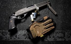 Wallpaper background, the gun, cartridges, Shotgun