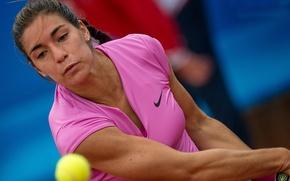 Picture the ball, tennis player, racket, Gonzales Montserrat