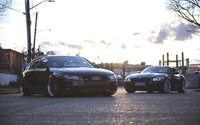 Picture Audi, Audi, BMW, Tuning, BMW, Stance, E89