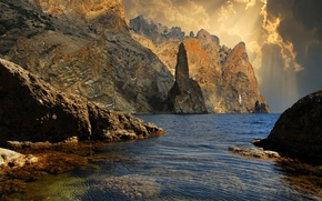 Picture nature, lake, rocks