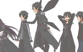 Picture Art, Anime, Sword Art Online, Kirito, SAO, GGO, ALO