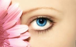 Picture flower, girls, eye