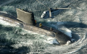 Picture technique, USA, helicopter, submarine, helicopter, weapons, submarine, arms