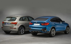 Picture cars, different, brand, Audi Q5, BMW X4 Concept