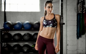 Picture face, hair, figure, hall, fitness, press, inventory, Dani