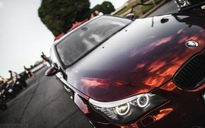 Picture machine, auto, the hood, BMW, optics, auto, 5 series, E60