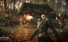 Picture sword, Battle, The Wild Hunt, Art, warriors, The Witcher, CD Projekt RED, The Witcher 3: …