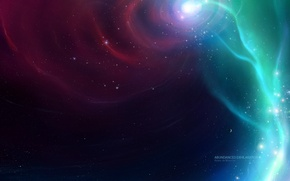 Wallpaper stars, robin de blanche, space, the universe, fog, vortex, stars, nebula