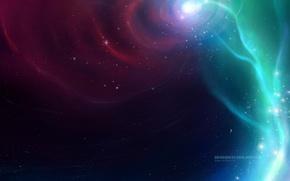 Picture space, stars, nebula, the universe, vortex, stars, fog, robin de blanche