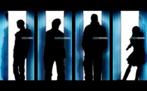 Wallpaper Bleach, Bleach, Inoue Orihime, Ishida Uryu, Sado Yasutora, shadows, Ichigo Kurosaki