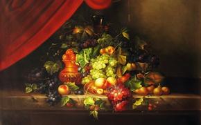 Picture figure, picture, fruit, still life, digital art
