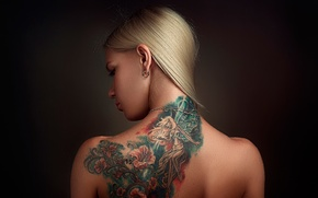 Picture Russia, Anya, back, Anna, tattoo, Stepan Gladkov