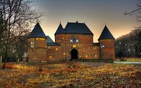 Picture autumn, the city, photo, castle, HDR, Germany, brick, Castle Vondern