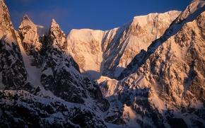 Picture snow, mountains, Alaska