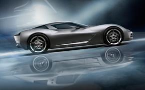Picture reflection, Auto, Chevrolet Corvete