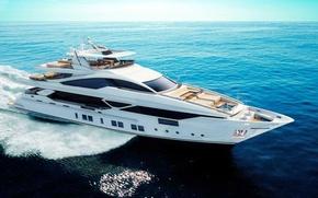 Picture sea, yacht, Suite, luxury, superyacht, Benetti, megayacht