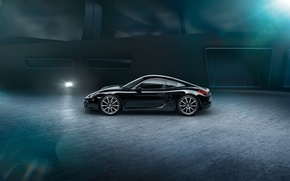 Picture car, porsche cayman, blck edition