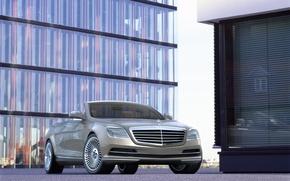 Picture road, auto, building, concept, Convertible, Car, mercedes benz