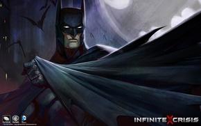 Picture batman, Batman, game, cloak, Infinite Crisis