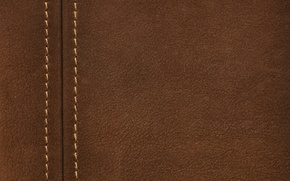 Picture background, texture, leather, seam, thread, brown, leather