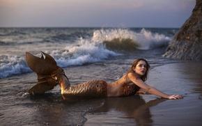 Picture sea, the ocean, mermaid, tail