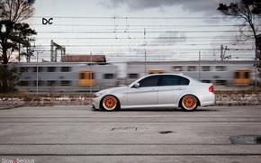 Wallpaper metalik, E90, drives, bbs, BMW, series