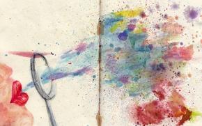 Picture bubbles, figure, blot, lips, soap, sheet, bend