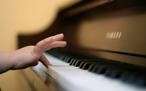 Picture music, hand, piano