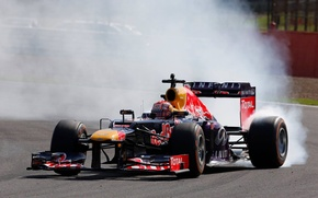 Picture Smoke, Formula 1, Red Bull