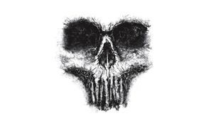 Wallpaper fear, skull, horror