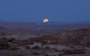 Picture night, the moon, desert, photographer, Utah, USA, national Park, canyons, state, full, jeff mitton, Jeff …