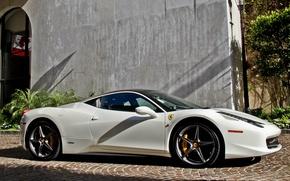Picture white, Ferrari, white, Ferrari, 458, Italia