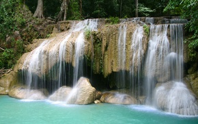 Picture nature, rocks, waterfall