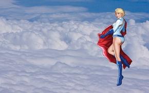 Wallpaper Kara Zor-L, DC Comics, comic, girl, clouds, the heroine, Power Girl, Karen Starr