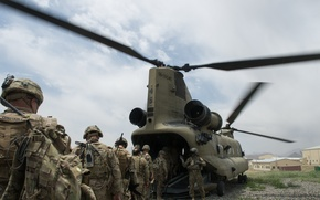 Picture army, soldiers, landing
