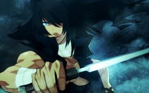 Picture guy, ears, blue eyes, Lamento ~Beyond The Void