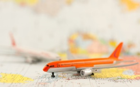 Picture model, map, the plane