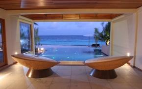 Picture design, style, interior, pool, Bungalow