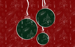 Picture balls, texture, New Year, Christmas, pattern, decoration, Christmas, New Year, Xmas, Merry, 2016, Designed by, …