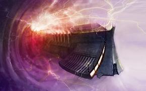 Picture portal, warhammer, Warhammer 40K, space ship, warp