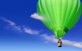 Picture the sky, clouds, flight, ball, ballooning