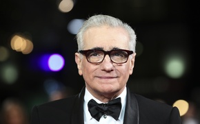Picture butterfly, glasses, Oscar, Martin Scorsese, Director, presentation