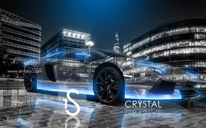 Picture City, Blue, Neon, Aventador, Crystal, el Tony Cars