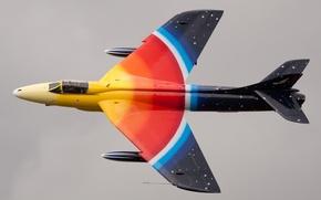 Picture fighter, cabin, bomber, Hawker Hunter