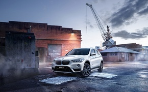 Picture BMW, crane, BMW, crossover, F48