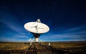 Picture WHITE, ANTENNA, PLATE, HORIZON, The SKY, FIELD, CLOUDS, STARS, PLAIN, SIZE, LIGHTS, DISK, SIGNAL, RECEIVER, …