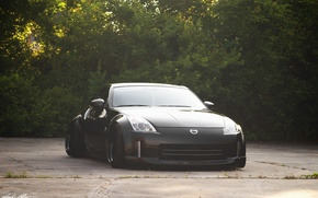 Picture nissan, 350z, black, japan, jdm, tuning, front, custom, face, low, nismo, stance, datsun, Fairlady Z, …