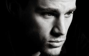 Wallpaper Channing Tatum, eyes, lips