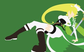 Picture green, sword, game, anime, fairy, beautiful, pretty, blonde, asian, cute, manga, pretty girl, japanese, Sword …