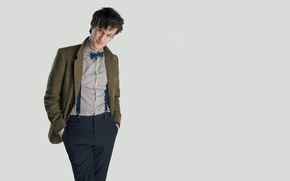 Picture look, smile, background, actor, male, shirt, Doctor Who, Doctor Who, BBC, braces, Matt Smith, Matt …